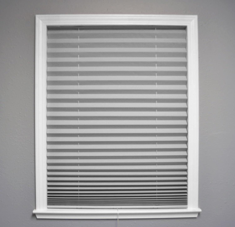 Original Corded Lift Room Darkening Pleated Paper Shade Gray, 36 x 72 36 x 72 Redi Shade 3674085