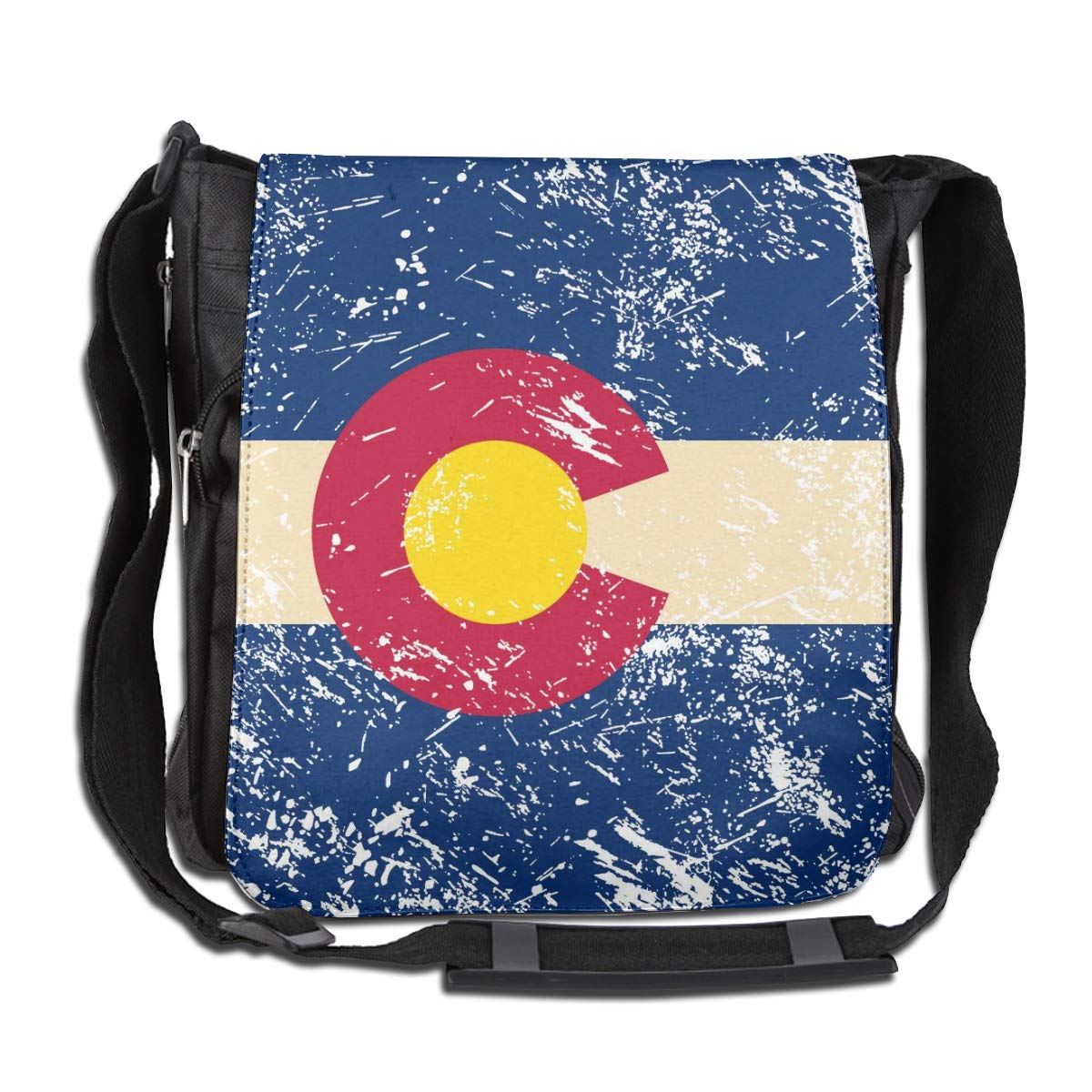 Colorado State Flag Crossbody Shoulder Bag Adjustable Casual Daily Messenger Bag Satchel School Bag For Women And Men