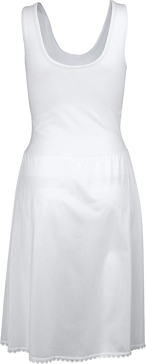 Trufit Sleeveless Comfy Cotton Cami Top Lines Itchy// Transparent Dresses Smooth Non Cling Nylon Bottom Full Slip