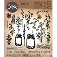 Sizzix Die Set 662270, Flower Jar by Tim Holtz, 16 Pack, Multi Color, One Size Framelits, Multicolor