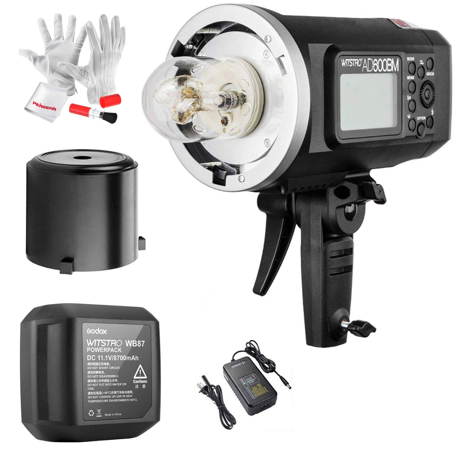 Godox AD600BM Bowens Mount 600Ws GN87 High Speed Sync Outdoor Flash Strobe Light with 2.4G Wireless X System, 8700mAh Battery to Provide 500 Full Power Flashes Recycle in 0.01-2.5 Second by Godox