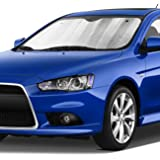 "Hippo Front Car Sunshade Windshield-Jumbo/Standard Sun Shade Keeps Vehicle Cool-UV Ray Protector Sunshade-Easy to Use Sun Shade-Silver(54.7""X 28.3"")"