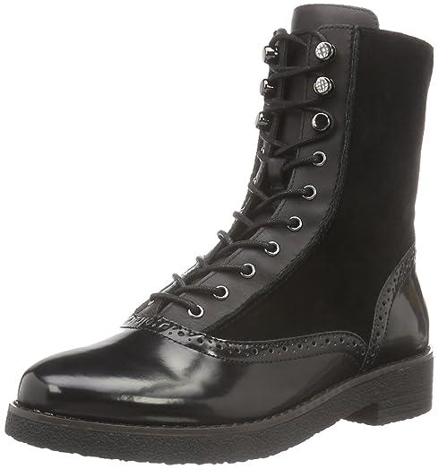 Vanja Women US 8.5 Black Combat Boot
