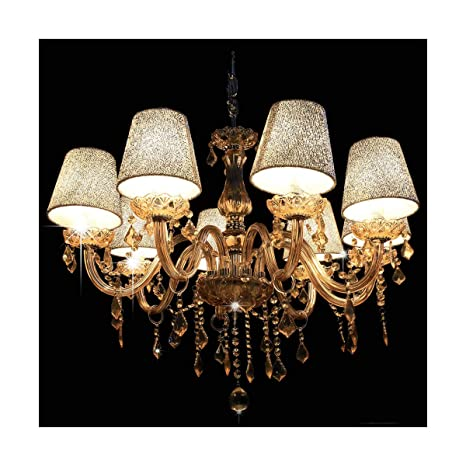 748c37970fd Image Unavailable. Image not available for. Color  Modern Home Lighting 40W  x 8 Crystal Ceiling Light Pendant ...