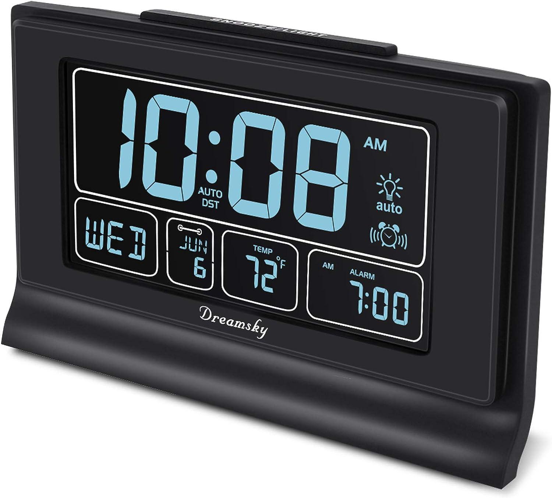 """10/"""" Large Screen Alarm Clock Wall Clock 40 Tones 5 Levels Brightness Decors"""