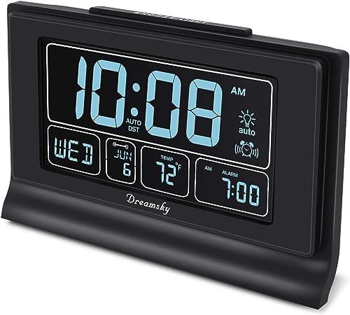 DreamSky Auto Set Digital Alarm Clock