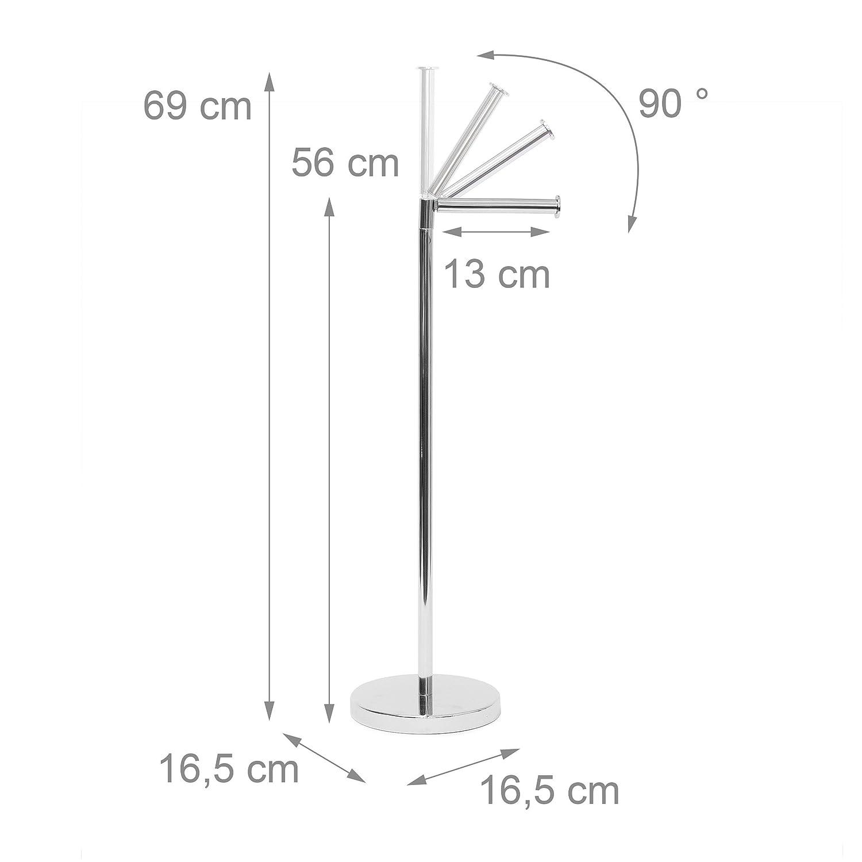Relaxdays Toilettenpapierhalter Stehend HBT: Ca. 69 X 16,5 X 16,5 Cm  Freistehender Papierrollenhalter In ...