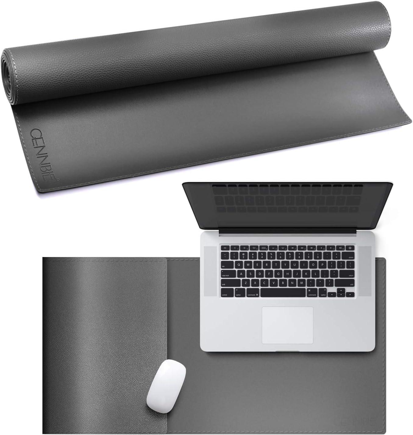 90,2 x 39,4 cm nero antiscivolo tappetino per tastiera portatile CENNBIE rettangolare 90 x 40 cm tappetino da scrivania in pelle artificiale