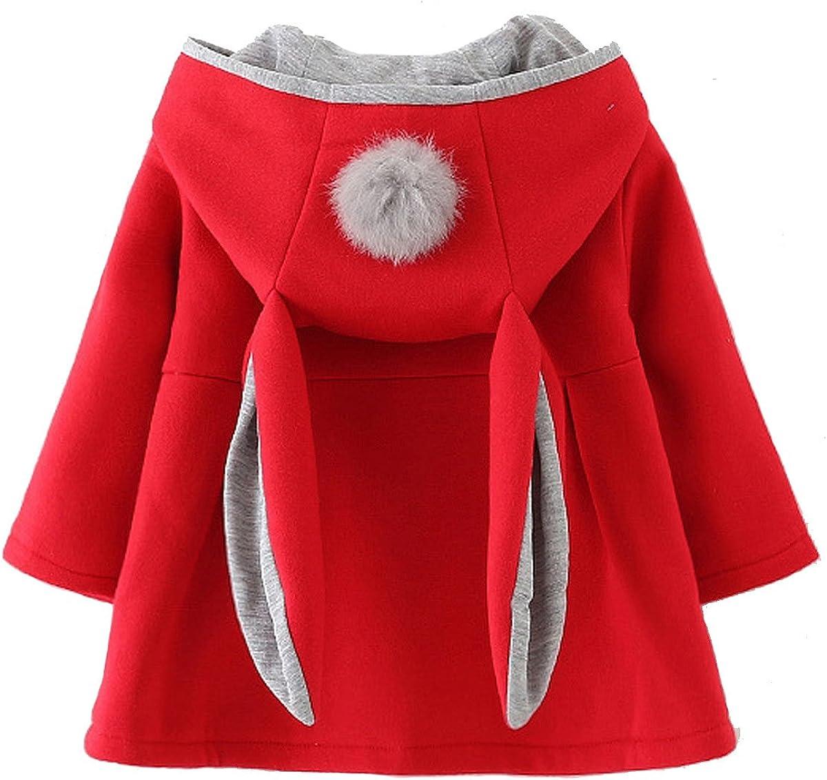 Waprincess 2017 Baby Girls Toddler Kids Winter Big Ears Hoodie Jackets Outerwear Coats