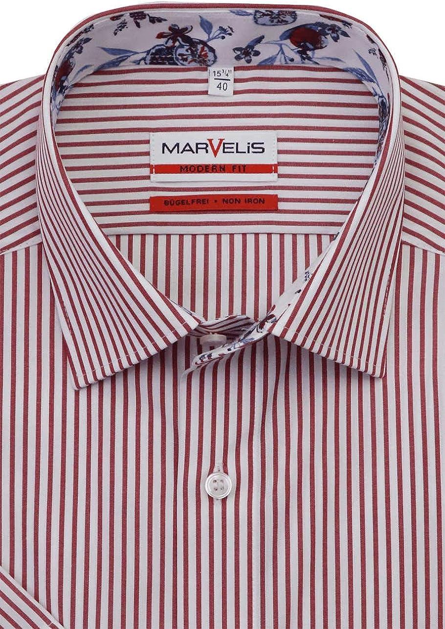 Camisa de manga corta de Marvelis, no necesita planchado, con ...