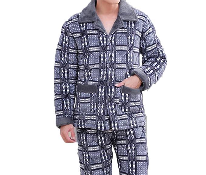 Paño De Invierno Pijamas Calientes Para Hombre Paño Más Grueso Para Servicio A Domicilio Juego De