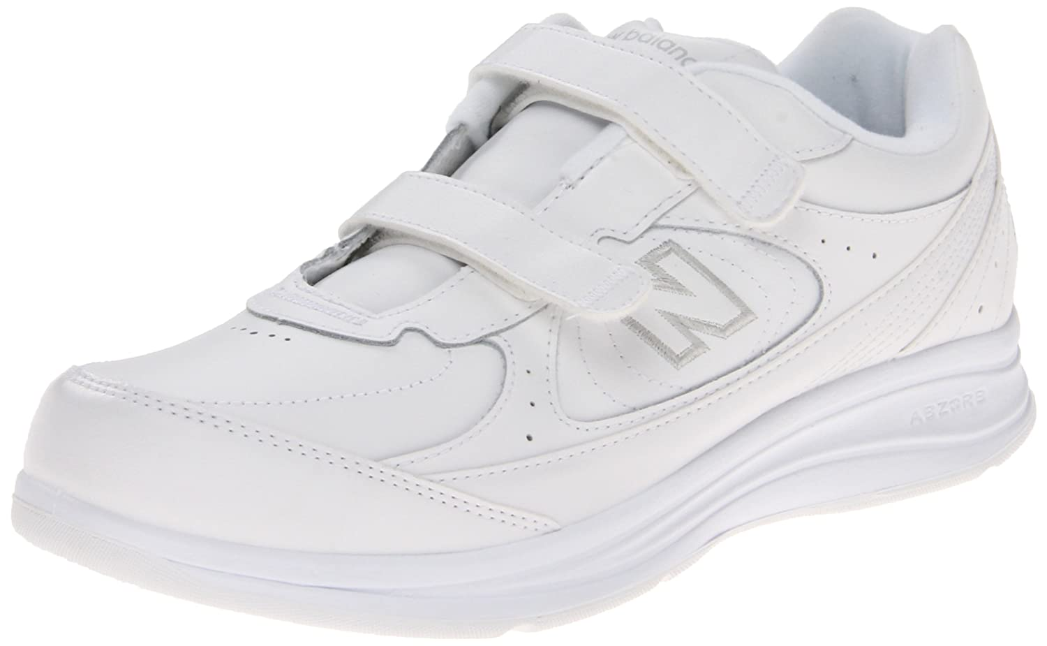 New Balance Women's WW577 Hook and Loop Walking Shoe B003UHULUE 10.5 D US|White