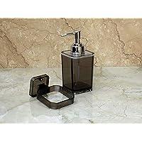 WIGANO Acrylic Wall Mounted Liquid Soap Dispenser with Chrome Polish Pump for Room, Luxury Hotel Bathroom, Standard Size, Black