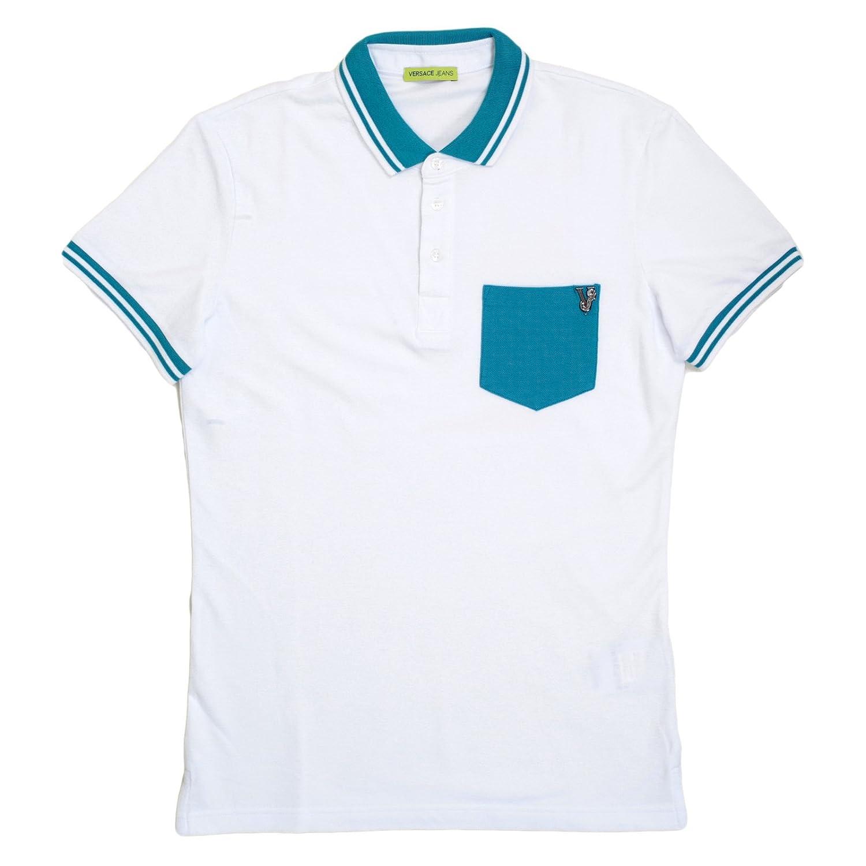 Versace Polo - Para Hombre Blanco Blanco Large: Amazon.es: Ropa y ...