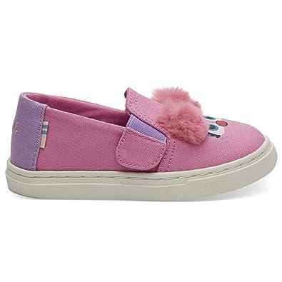 1ecd1cb1c TOMS Sesame Street X Abby Face Tiny Luca Slip-Ons 10013635 (Size  4