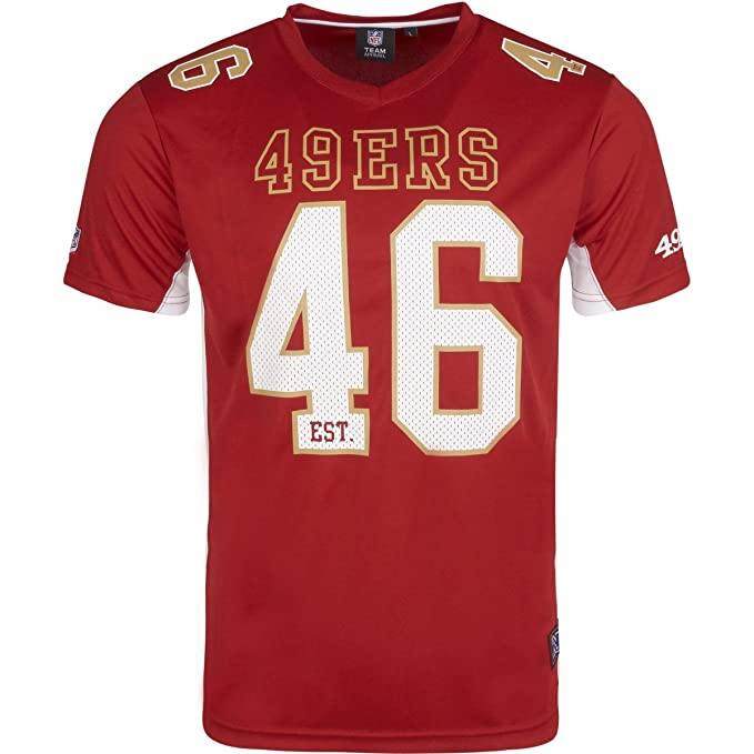 Majestic NFL SAN FRANCISCO 49ers Moro Mesh Jersey T-Shirt  Amazon.es  Ropa  y accesorios 24f3291f3cc