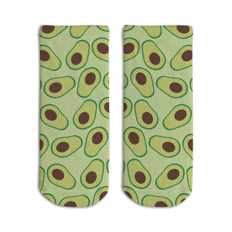 Cute Avocado Kids Girls Novelty Ankle Short Socks Low Cut Boat Sock For Size 3-6.5