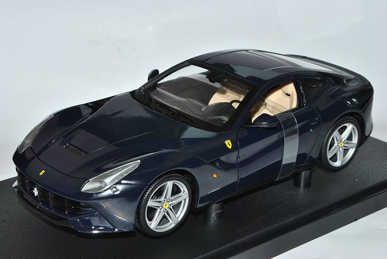 Mattel Ferrari F12 Berlinetta Pozzi Blau Ab 2012 Coupe 1/18 Hot Wheels Modell Auto mit individiuellem Wunschkennzeichen