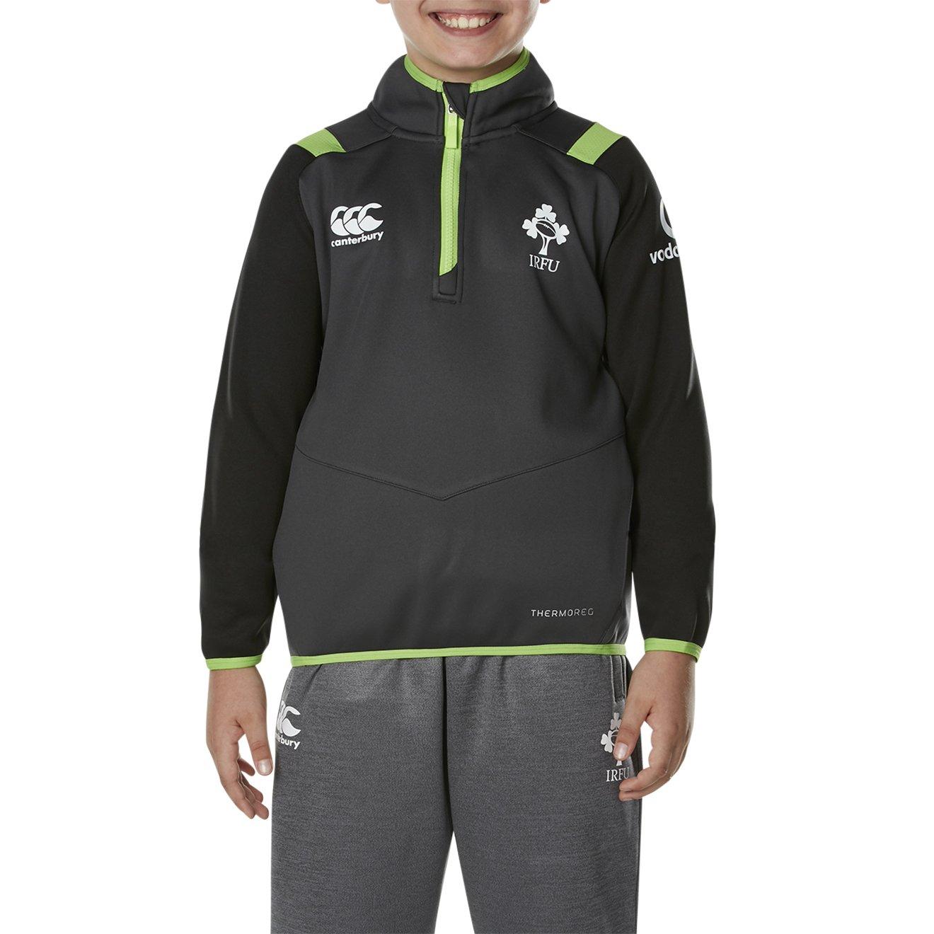 /Asphalt Canterbury Irlanda IRFU 2017//18/Bambini Thermoreg 1//4/Zip da Allenamento da Rugby/