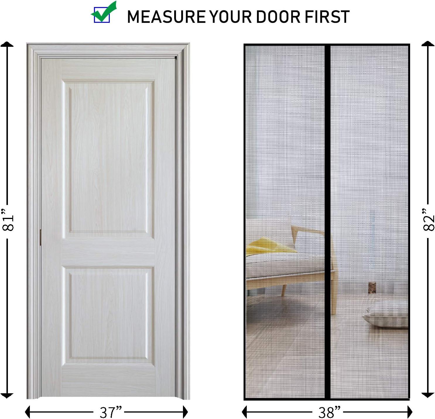 Fits Door Size up to 36x82 YUFER Fiberglass Magnetic Screen Door 36/×82 Magnetic Mesh Screen Door with Magnetic Closure Door Screen
