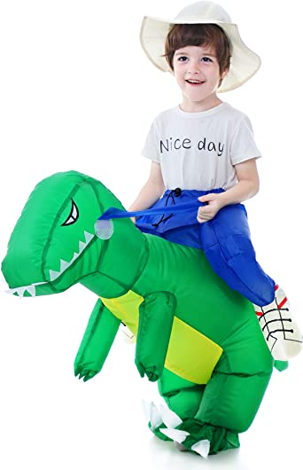Inflatable Dinosaur Riding Suit Adult Kids Cosplay Costume Child Fancy Dress