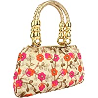 Oh-Teri Women's Synthetic Ethnic Handcrafted Party Clutch & Handbag