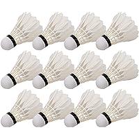12-pack badmintonshuttles met eendenveren Ballen Hoge snelheid badmintonballen voor indoor buitenspel