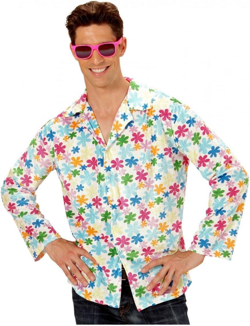 Horror-Shop Hippie Camisa Blanca con Flores de Colores: Amazon.es: Juguetes y juegos