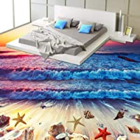 Mazhant Custom 3D Floor Tiles Mural Wallpaper Colorful
