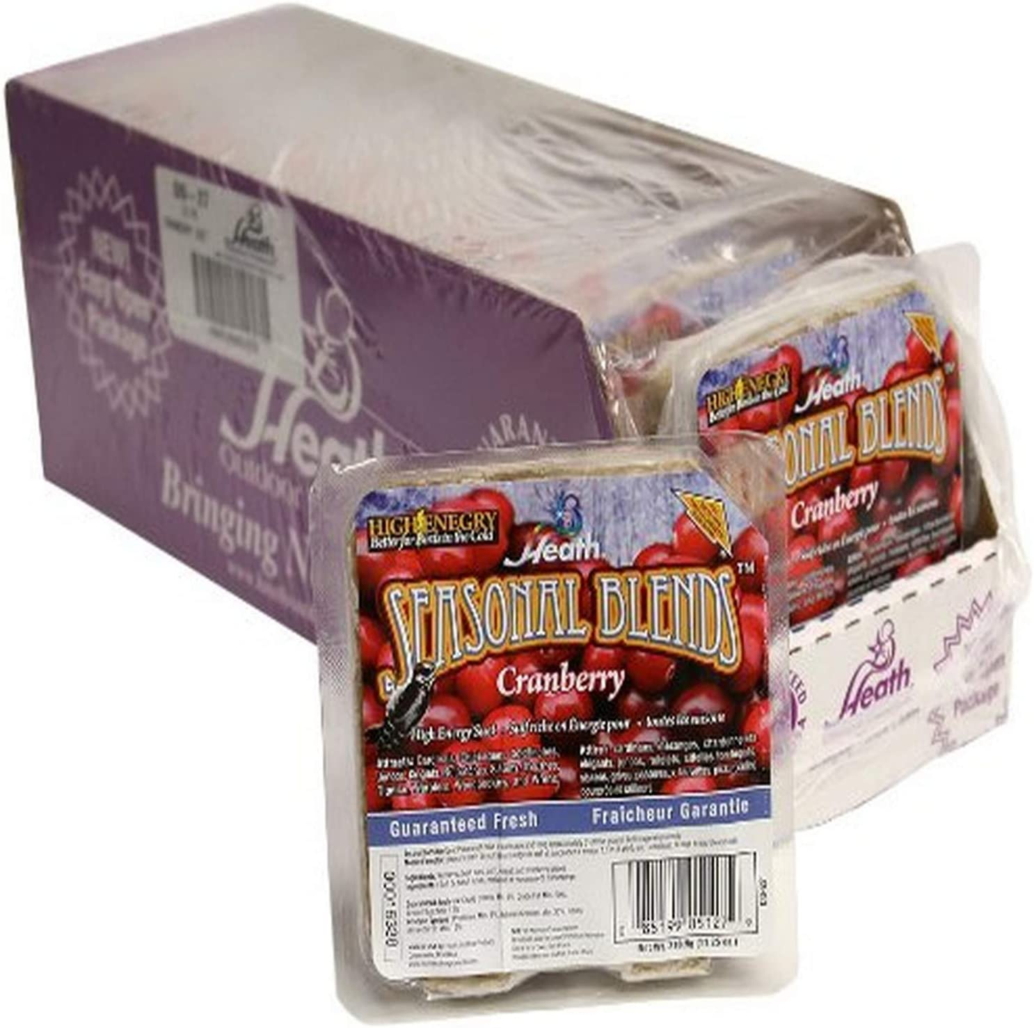Heath Outdoor Products DD-27 Cranberry Seasonal Blend 11-1/4 Ounce Suet Cake, Case Of 12