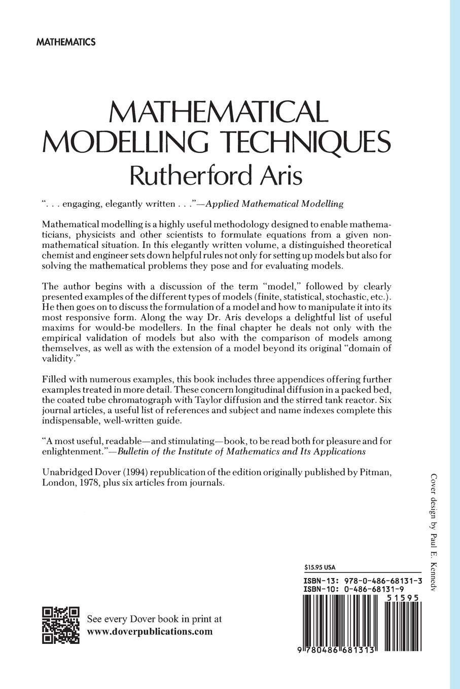 Mathematical Modelling Techniques (Dover Books on Computer
