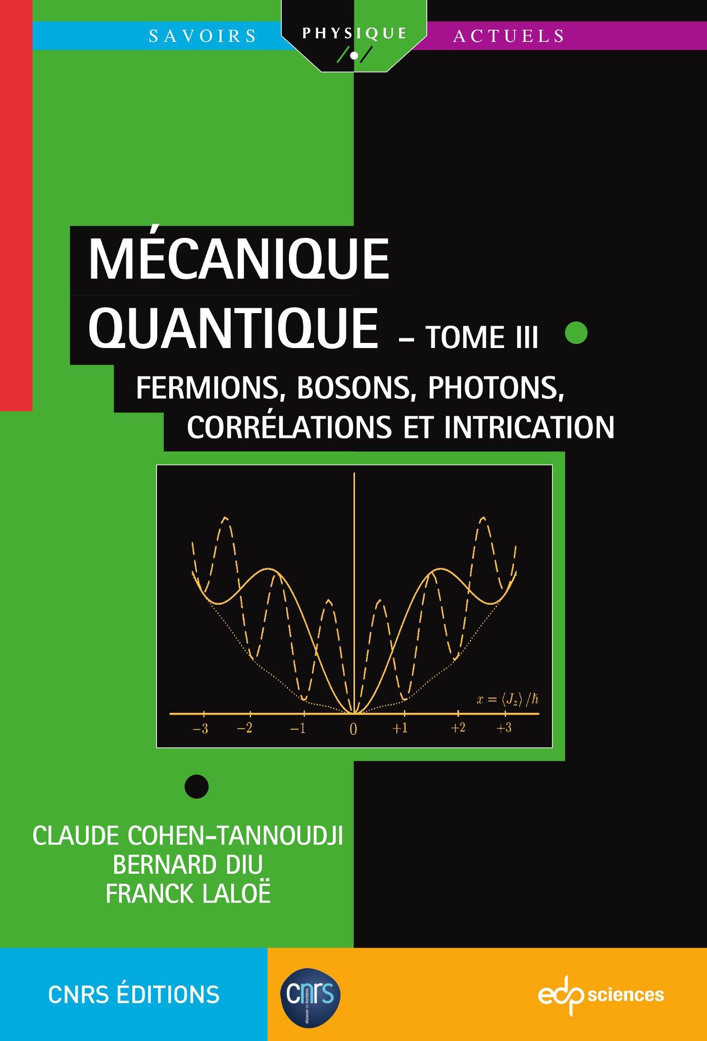 livre mecanique quantique cohen tannoudji gratuit