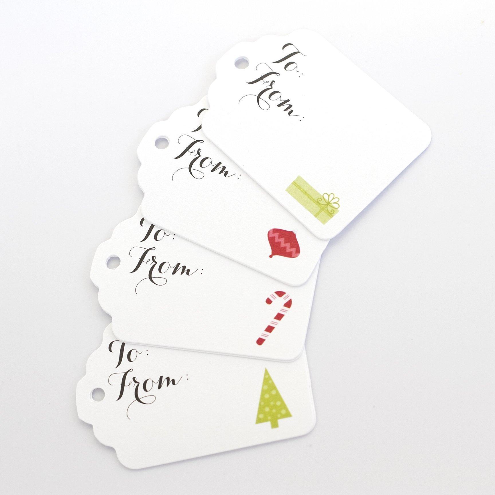 Merry Christmas Gift Tags, Christmas Gift Wrap Tags (ST-108)