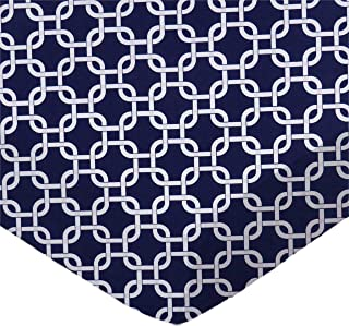 product image for SheetWorld Fitted Cradle Sheet - Navy Links - Made In USA