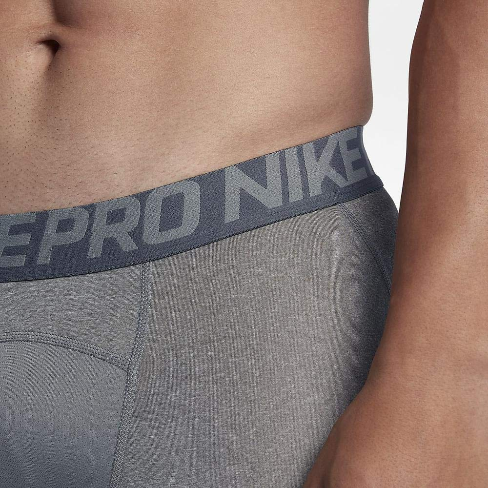 Nike Mens Pro Cool Compression 9'' Shorts Game Carbon Grey 703086-091 Size Small by Nike (Image #3)