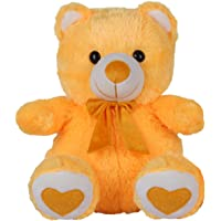 Ultra Spongy Teddy Bear Soft Toy Gifts, Yellow (15-inch)