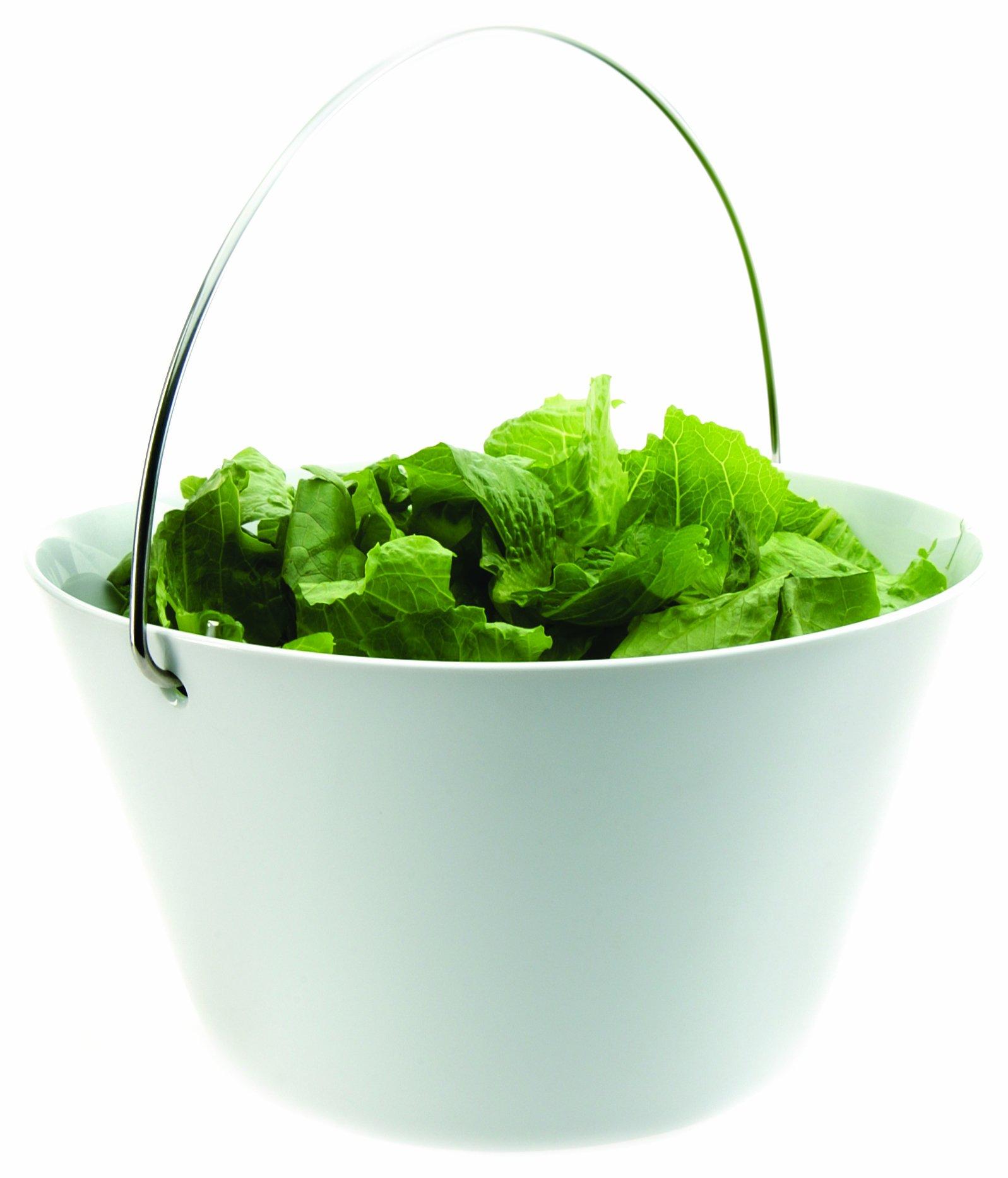 Eva Solo Bowl with Handle, White, 4-Liter