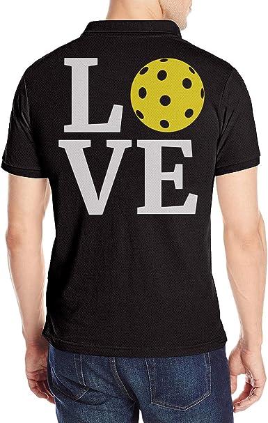 Love Pickleball Mens Short Sleeves Polo Shirts