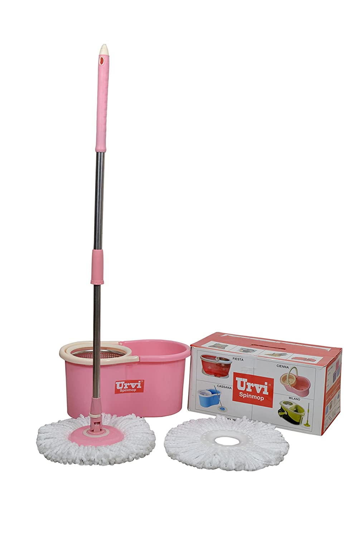 URVI steel bucket spin mop(random colour): Amazon.in: Home Improvement