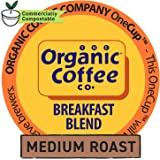 The Organic Coffee Co. OneCup, Breakfast Blend, 12 Count- Single Serve Coffee, Compatible with Keurig K-cup Brewers, USDA Organic