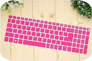 15.6 Inch Silicone Keyboard Cover Protector for Acer Aspire E15 E 15 E5 576 E5576 V3 V15 E5 553G/575G / Aspire 3 5 7 Series-Rose-