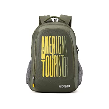 5b27b27a95d9 American Tourister 32 Ltrs Olive Casual Backpack (AMT Fizz SCH Bag 03 -  Olive)  Amazon.in  Bags