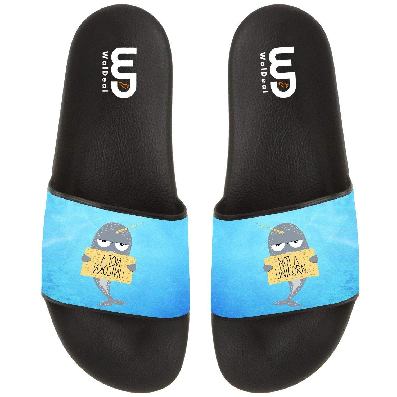 I'M Not A Unicorn Narwhal Summer Unicorn Slide Slipper For Boy Girl Men Women Comfort Casual Sandal Shoes