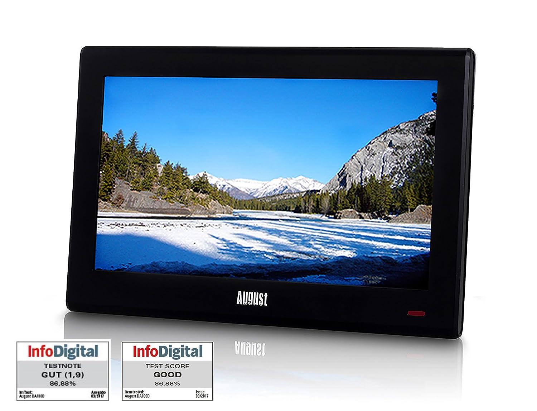 august da100d 10 tragbarer dvb t2 digital fernseher portabler mini tv ebay. Black Bedroom Furniture Sets. Home Design Ideas