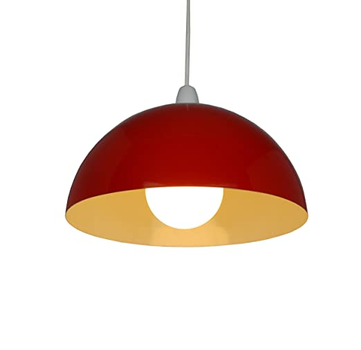 14 red metal cylinder dome light shade lamp shade ceiling light 14quot red metal cylinder dome light shade lamp shade ceiling light pendant aloadofball Choice Image
