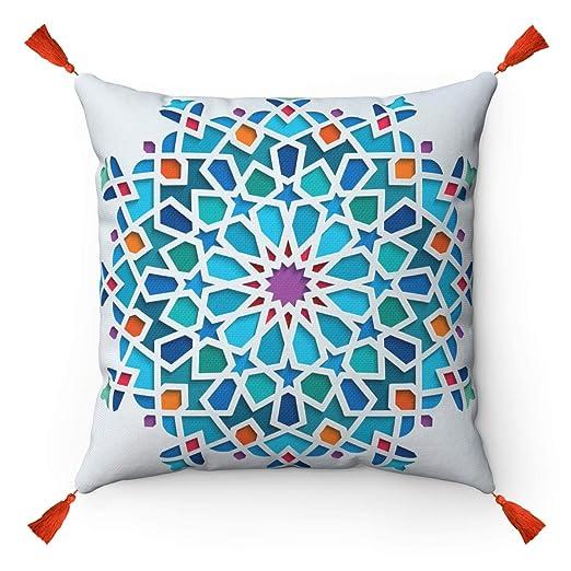Tiles Mosaic - Funda de cojín Original de Estilo marroquí ...