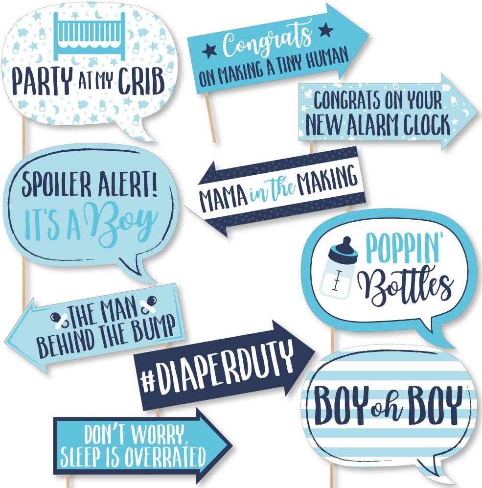 Baby Shower Party Photo Booth Props Kit Kids Party Fun New Baby