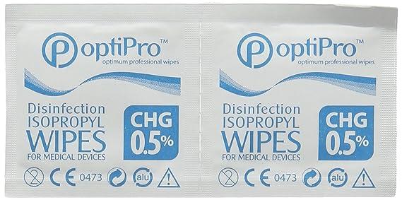 Toallitas con alcohol isopropilico 65 x 35-Caja 100u: Amazon.es: Salud y cuidado personal