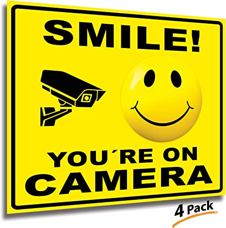 Amazon.com: Smile Youre On Camera - Adhesivo para cámara de ...