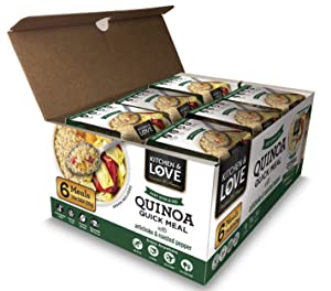 Kitchen & Love Artichoke & Roasted Peppers Quinoa Quick Meal 6 Pack